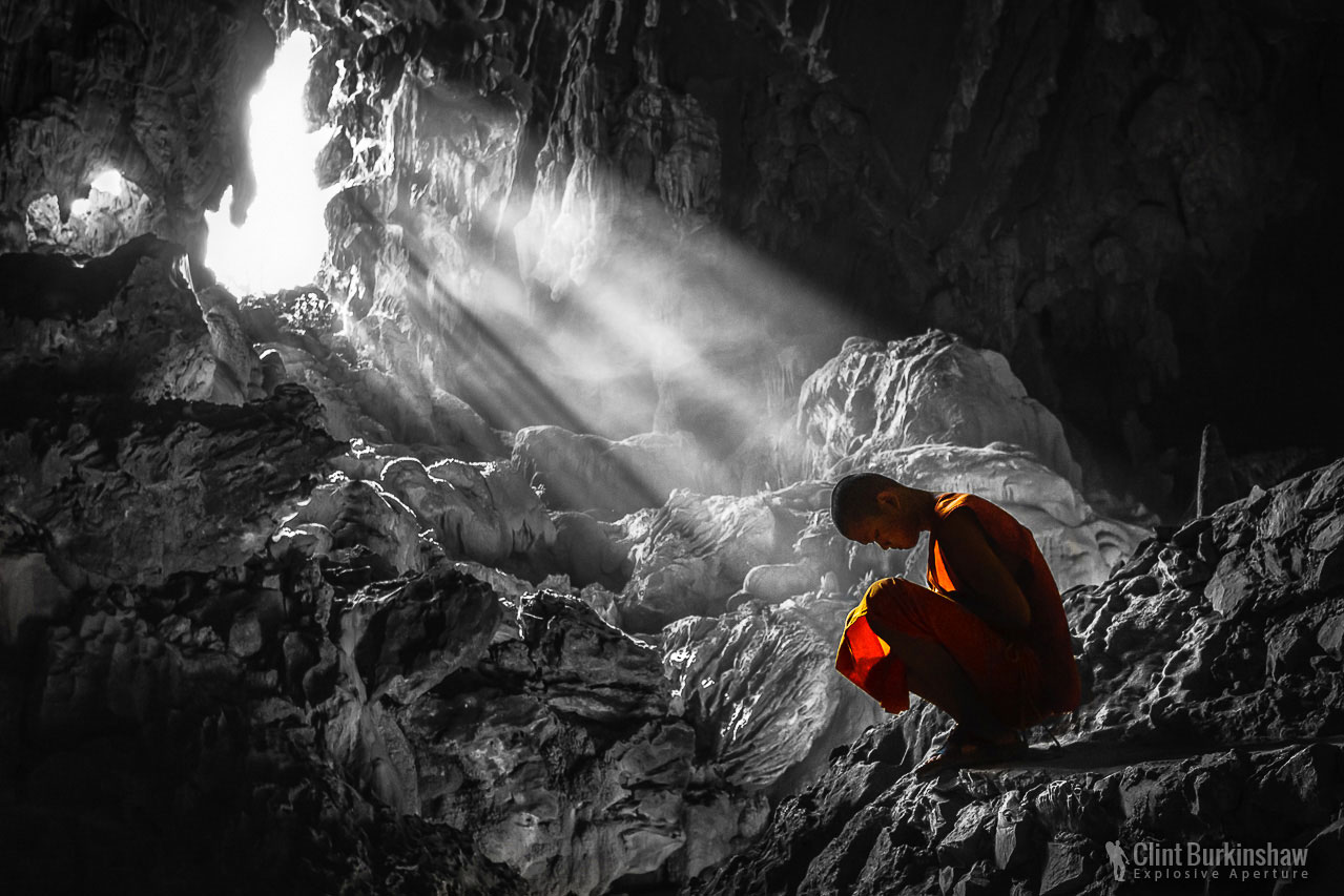 Monk in the light