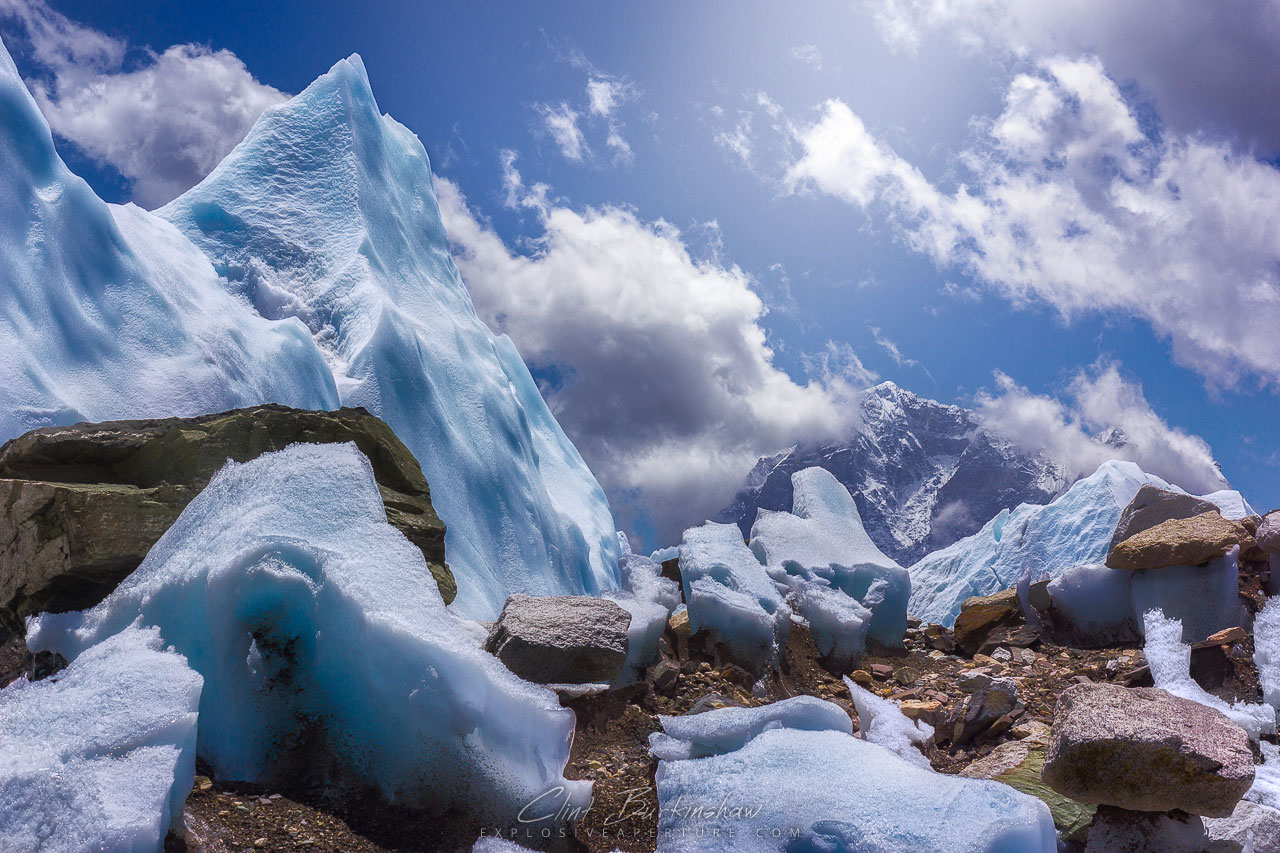 Mountain of Ice at Everest Base Camp