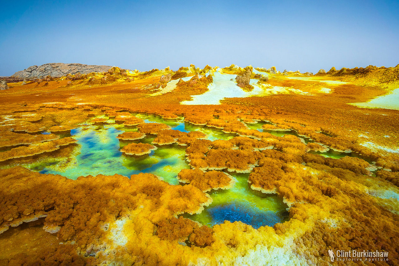 Acid pools on the Danakil Depression