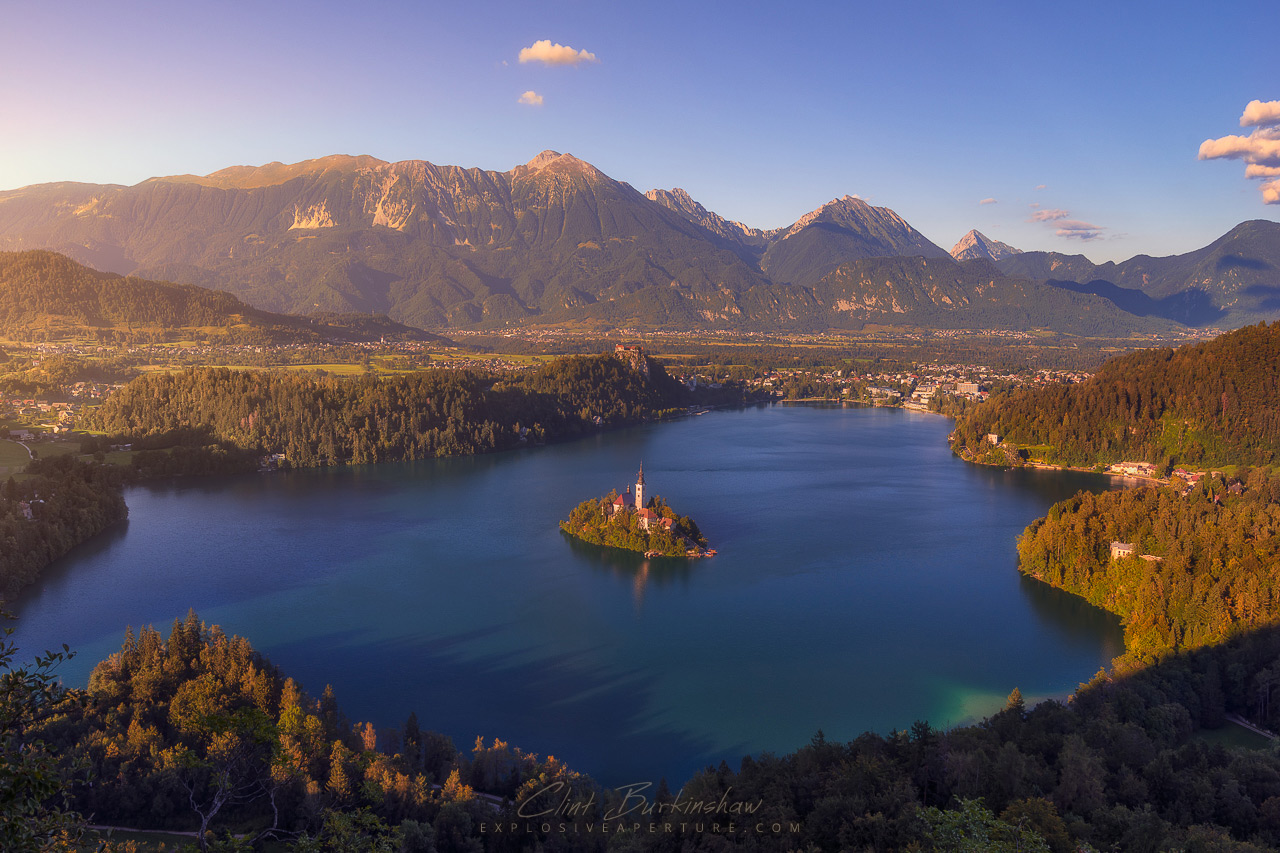 Sunset at Lake Bled, Slovenia