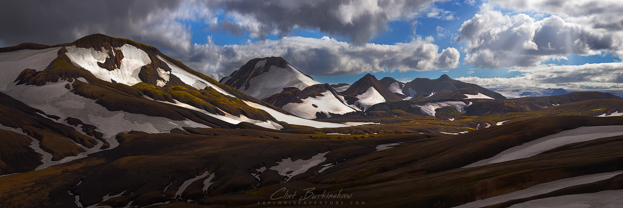 Sweeping hills across the Icelandic Highlands