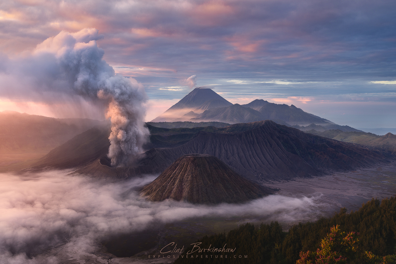 Amazing sunrise over Mount Bromo