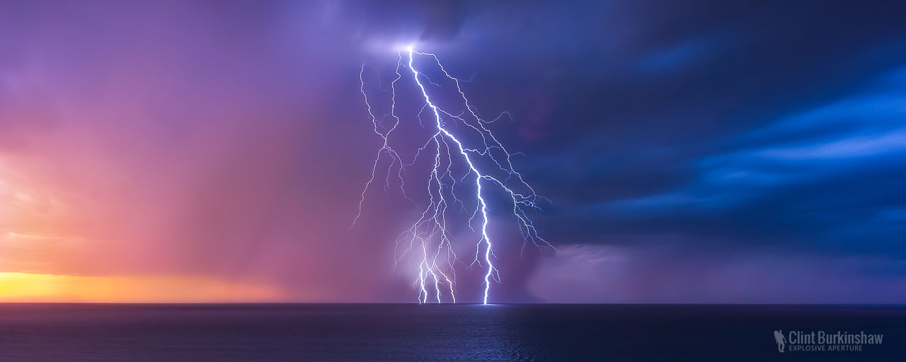 Lightning over Southport, South Australia