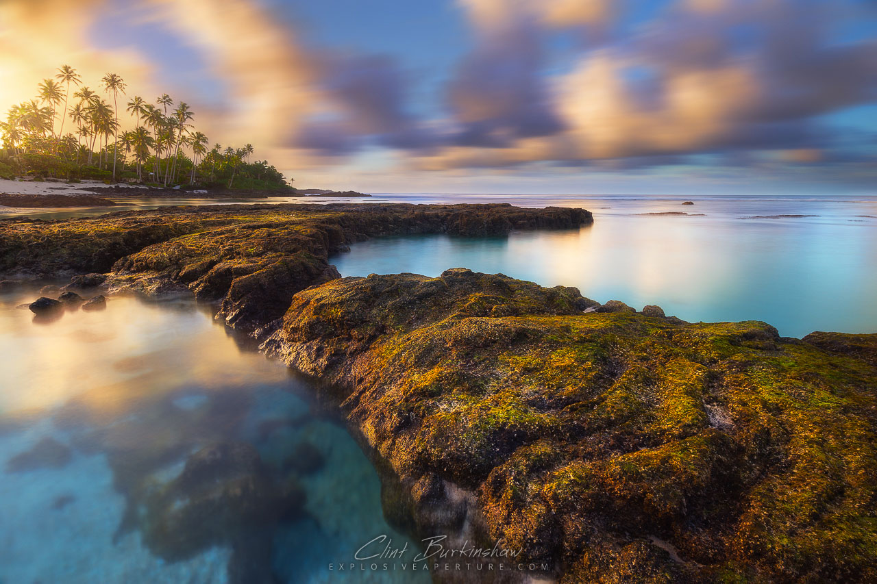 Sunrise over Upolu island, Samoa
