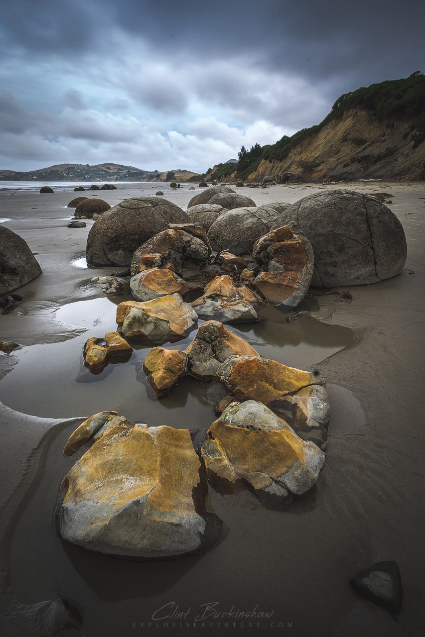 Dinosaur eggs at Moeraki beach